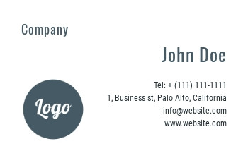 Business card template - A5