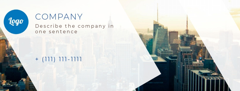 Business Facebook cover, city, size 820x312 px