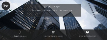 Business Facebook cover, skyscrapes, size 820 x 312 px