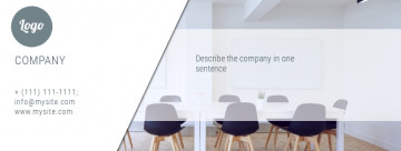Business, office Facebook cover, size 820x312 px