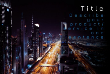 Business Facebook post cover, 1:1,5 ratio, night city, imafe size 500x340 px