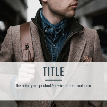 Men's fashion Facebook post cover, 1:1 ratio, image size 500x500 px