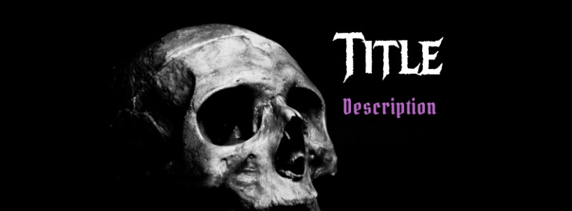 skull facebook cover template photo