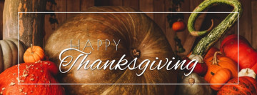Happy Thanksgiving Day Facebook cover template photo