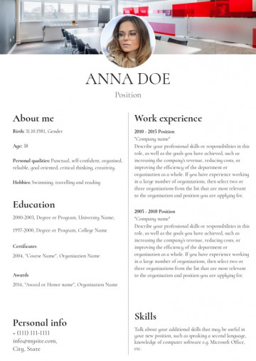 Administrative assistant resume, cv sample, template