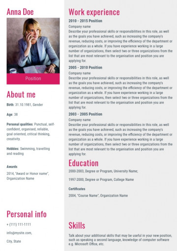 Executive manager resume, cv sample, template