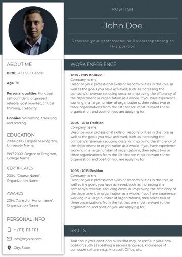 General manager CEO resume, cv sample, template