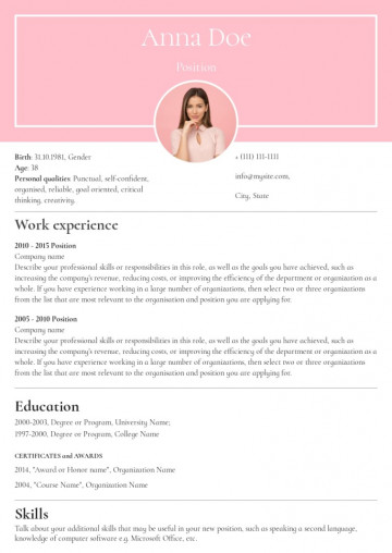 Receptionist resume, cv sample, template