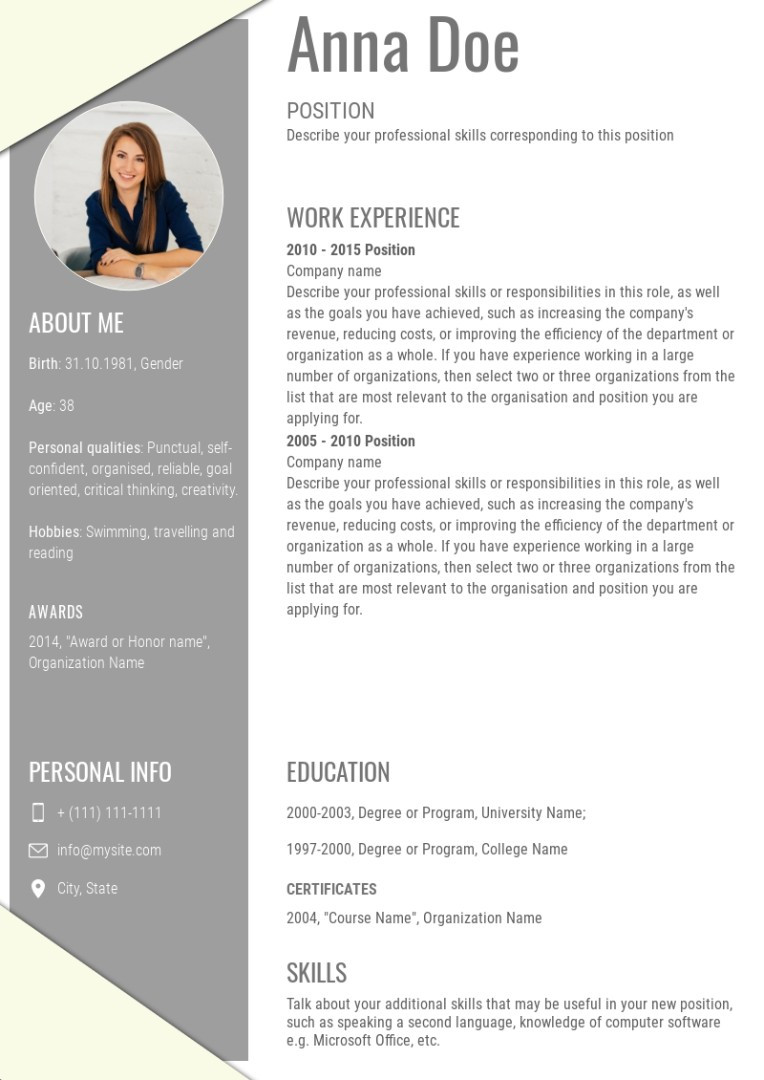 Staff accountant resume, cv sample, template