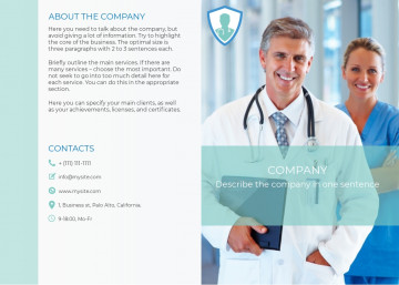 Medical and healthcare services bi-fold brochure sample