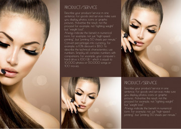 Nail salon tri-fold brochure sample