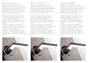 Furniture company tri-fold brochure sample