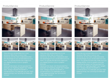 Furniture tri-fold brochure sample