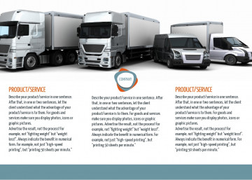 Logistics services tri-fold brochure sample