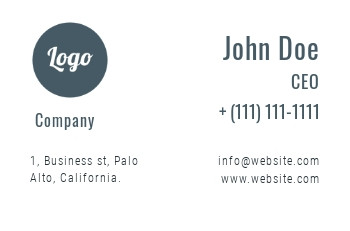 Business card template - A