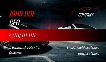 Car dealership business card sample