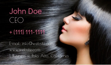 Beauty salon business card sample