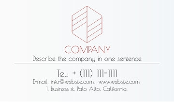 Corporate business card sample