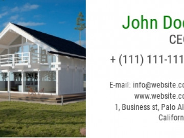 Construction Company Business Card Sample