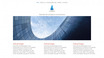 Website template - A