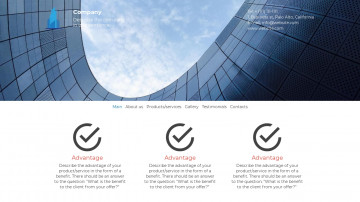 Website template - C