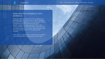 Website template - F