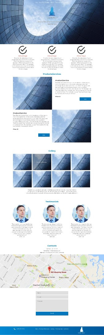 Website template - H