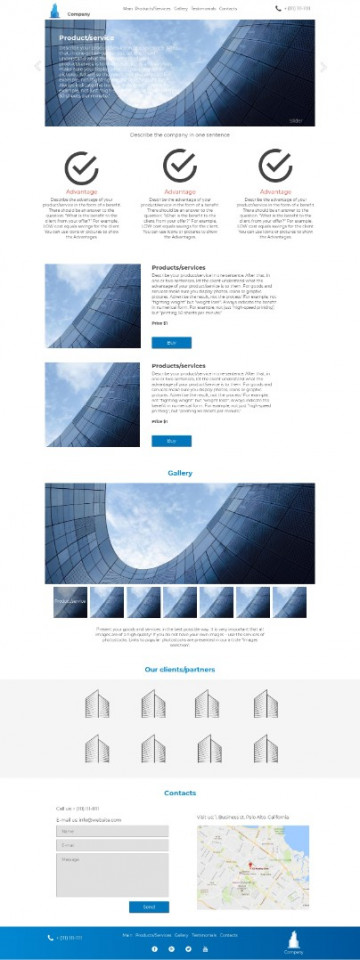 Website template - I