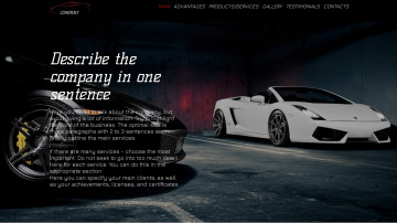 Car dealership company website sample