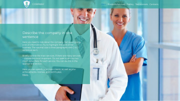 Medical and healthcare company website sample