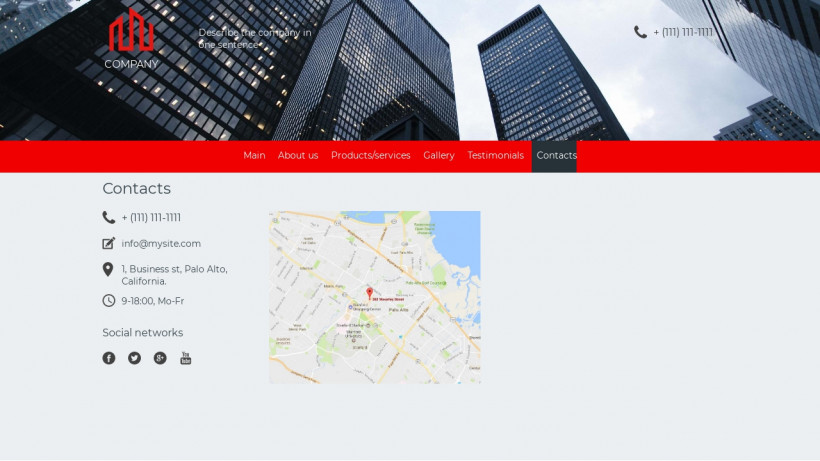 Real estate company website sample