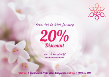 Discounts start announcement e-mail letter sample