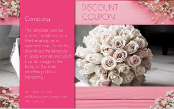 Discount coupon e-mail letter sample