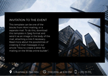 Event invitation e-mail letter sample