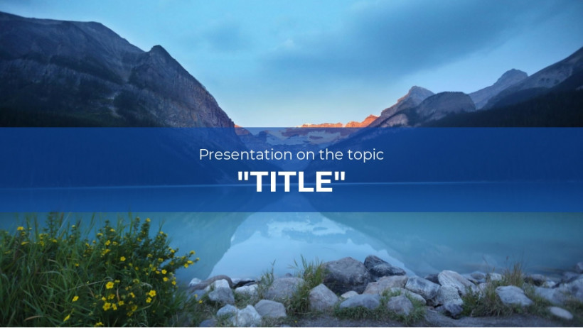 School presentation template - B