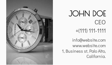 Watch store business card sample