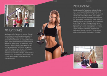 Sports tri-fold brochure sample