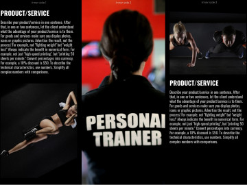 Personal training tri-fold brochure sample