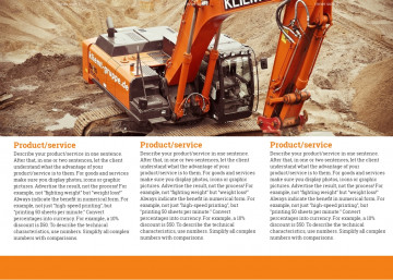Construction company tri-fold brochure sample