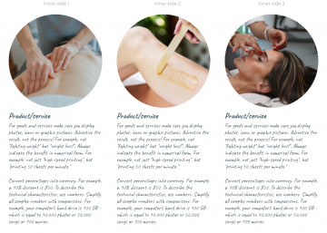 Beauty treatment tri-fold brochure sample
