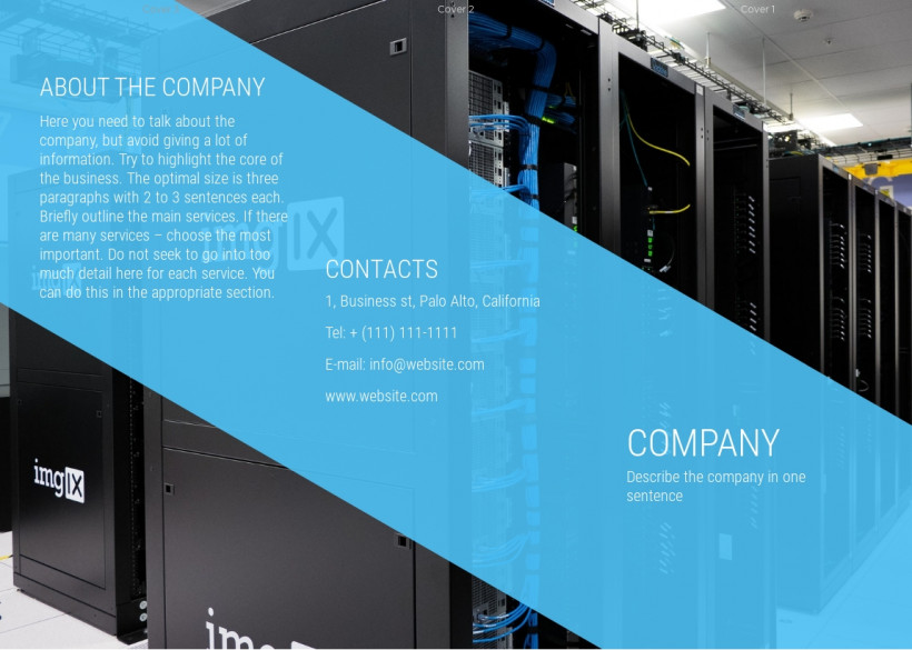 IT services tri-fold brochure sample