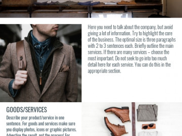 Menswear boutique opening leaflet sample