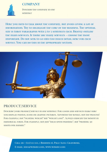 Legal services leaflet sample