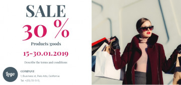 Women's fashion boutique sale flyer sample