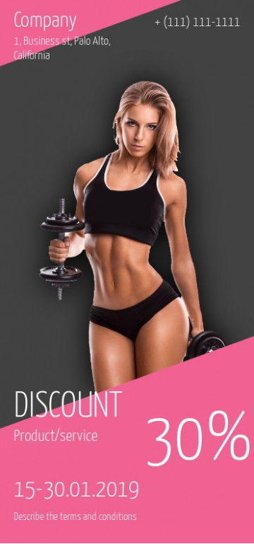 Sports, fitness discount flyer sample