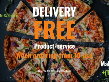 Pizza delivery flyer sample