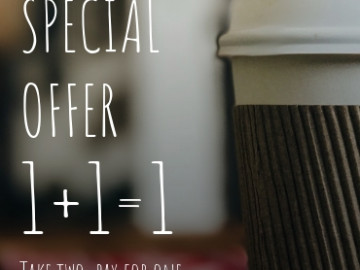 Coffee special offer flyer sample