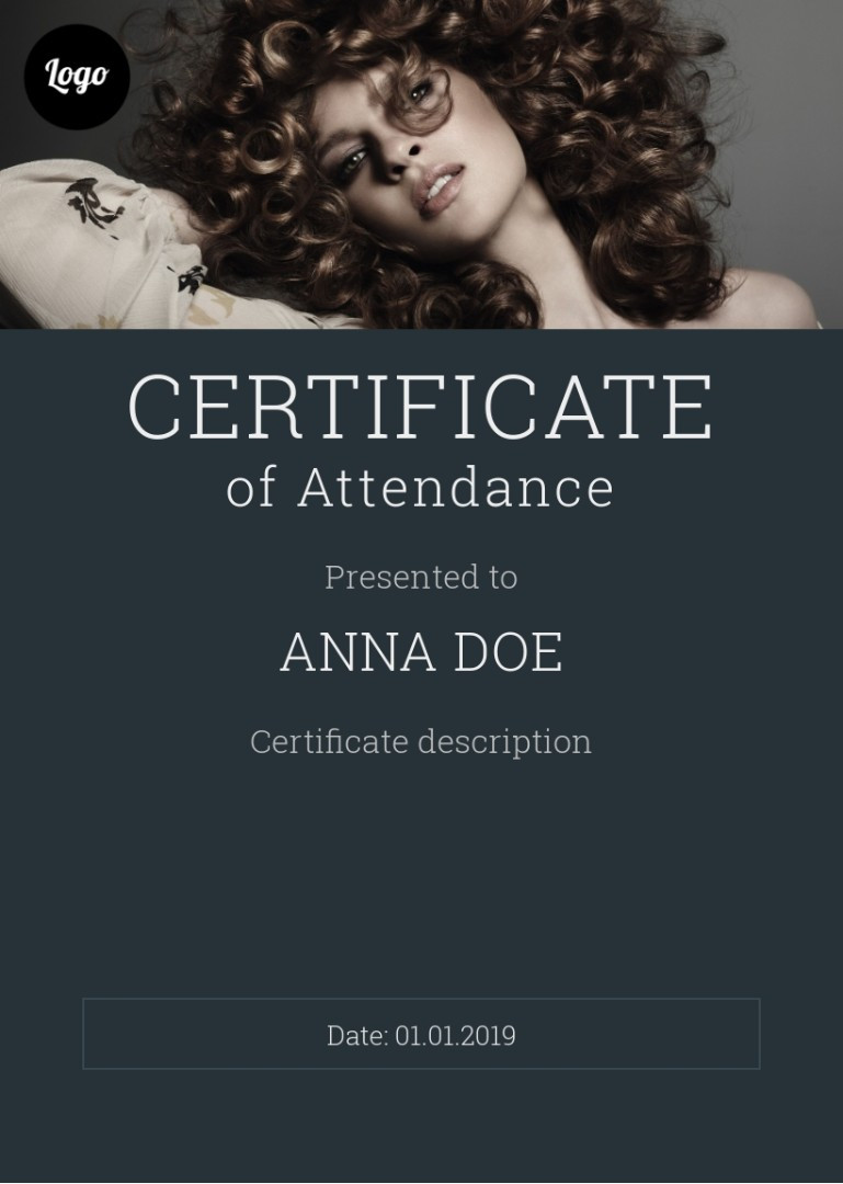 Certificate of Attendance sample
