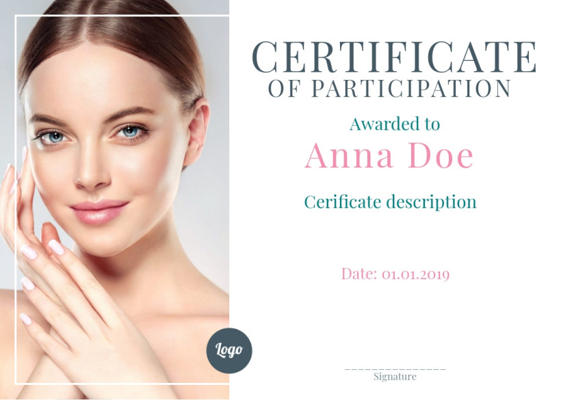 Certificate of Participation sample