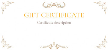 Gift certificate flyer template